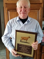 Gordon Barlass, from Gil-Bar Jerseys, Janesville, is the 2017 WJBA Jersey Breeder of the Year.