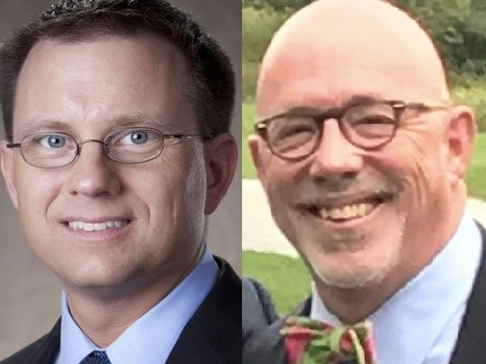 Todd Wolf, left, appeared to easily hold off a challenge to unseat him by fellow Sheboygan Common Council incumbent John Belanger in early voting Tuesday.