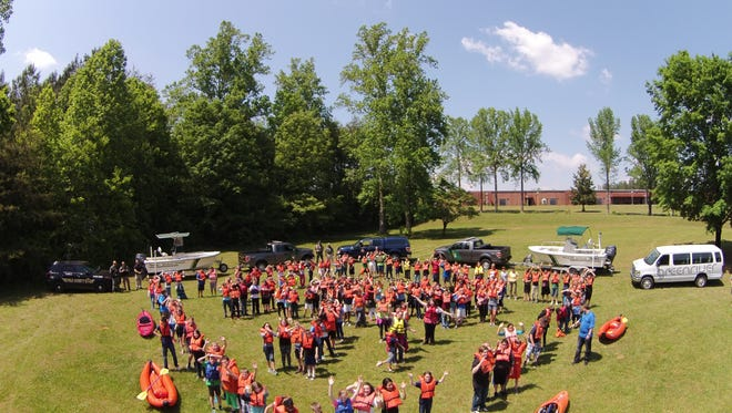 The N.C. Wildlife Resources Commission, Polk County Sheriff, and Green River Adventure worked with 170 6th graders at Polk County Middle School recently to learn about boating safety.