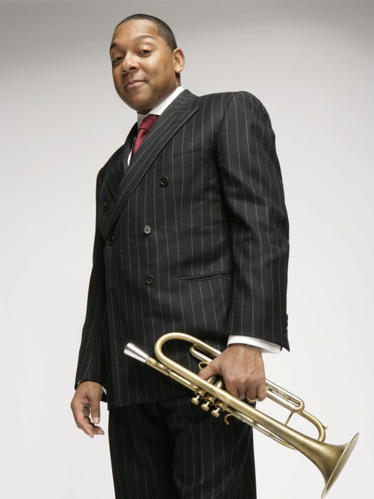 Wynton with horn art
