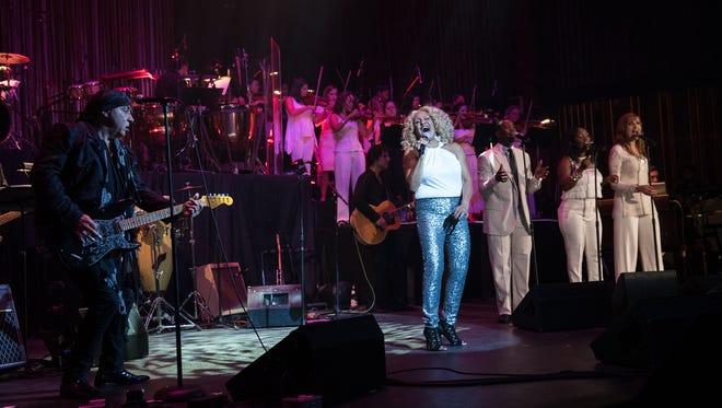 Steven Van Zandt and Darlene Love at the  Paramount Theater in Asbury Park, NJ, on Saturday, September 12.