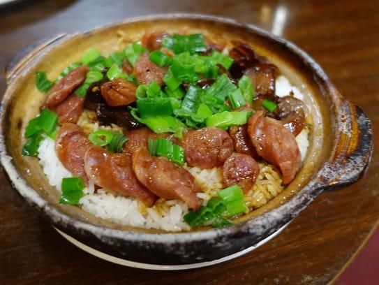 Clay pot rice at New Hong Kong Restaurant.