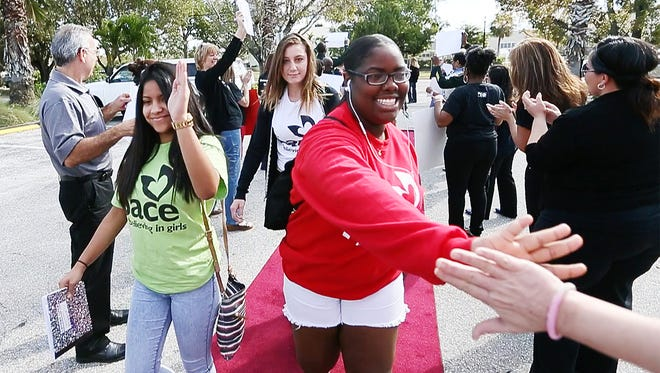 The PACE Center for Girls, Lee, staff and community members welcomed students to class recently in Fort Myers. Gov. Rick Scott declared March as Believing in Girls month.