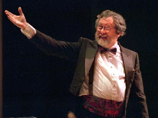BC Pops conductor David Agard during a BC Pops concert in 1998.