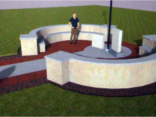 A proposed student-designed memorial  at Eastern Regional