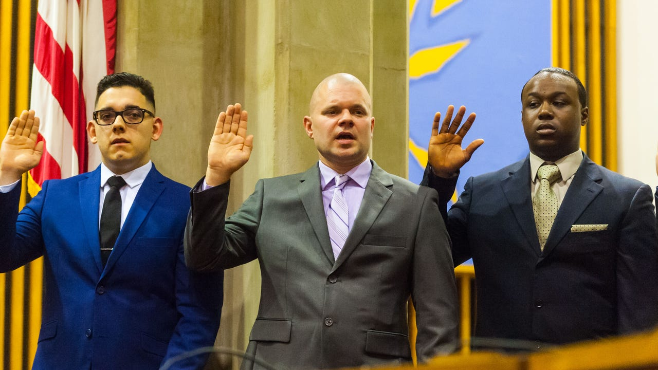 The Vineland Police Department had 14 new recruits take the oath on Thursday, February 22.