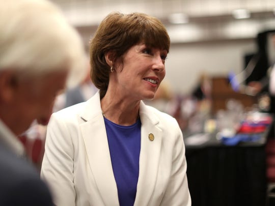 Democratic gubernatorial candidate Gwen Graham speaks