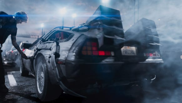 """The DeLorean time machine from the 1985 film """"Back"""