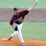 Mississippi State pitcher Lucas Laster had his worst outing of the season against Florida on Friday.
