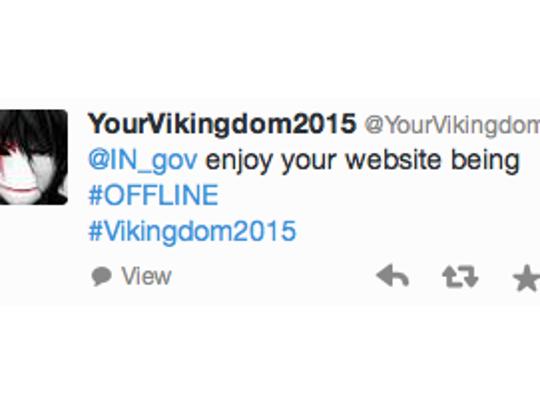Twitter user @YourVikingdom  claimed responsibility