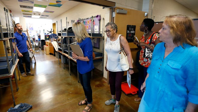Members of the Community Task Force on Facilities toured elementary, middle and high schools before coming up with recommendations for a 2019 bond issue.