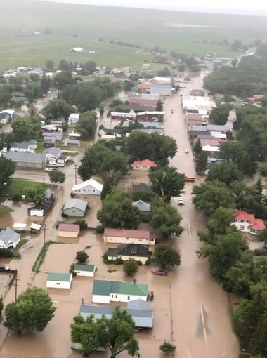 Mark Taylor flew above downtown Augusta and saw the scale of the flooding.