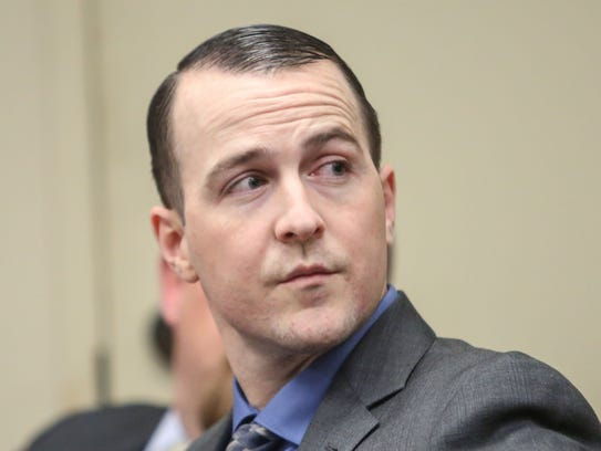 Robert Pape attends the hearing where he and co-defendant