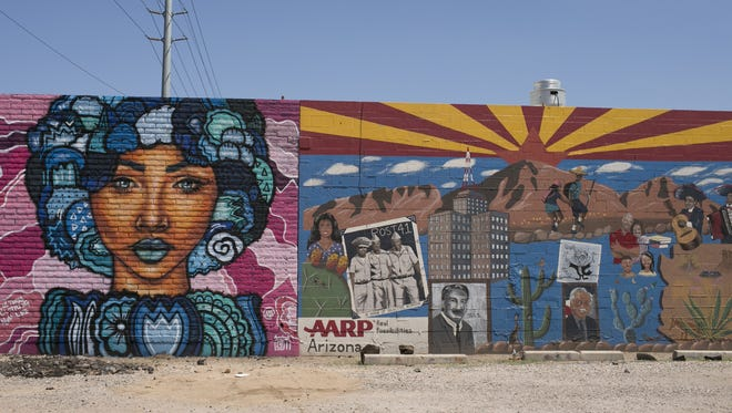 A Nyla Lee mural covers a wall in downtown Phoenix on July 19, 2018.