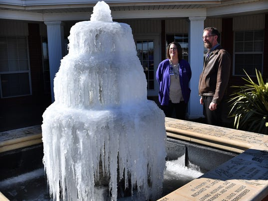 Frozen Fountain at Hospice