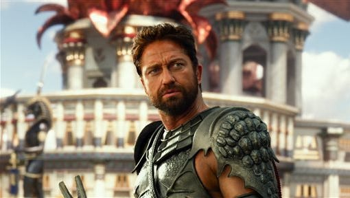 """This image released by Lionsgate shows Gerard Butler portraying Set in a scene from """"Gods of Egypt."""" (Lionsgate via AP)"""