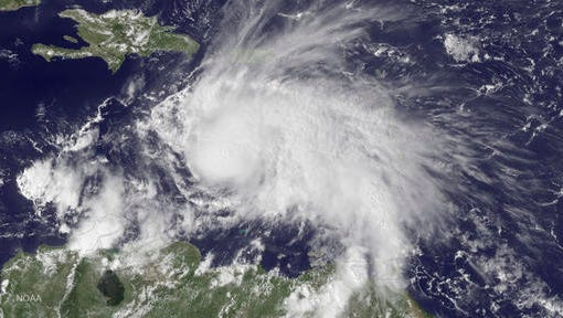 Hurricane Matthew was poised to possibly hit several islands in the Caribbean some time on Monday.