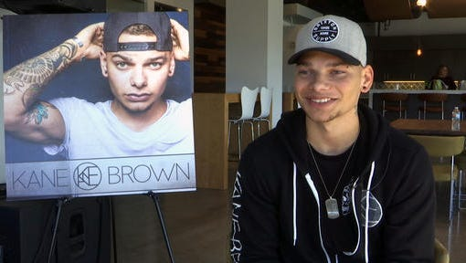 This Nov. 9, 2016 image taken from video shows Kane Brown during an interview in Nashville, Tenn. The 23-year-old singer was rejected by TV singing competitions, so he started posting videos of himself singing country music covers on Facebook. Brown created a dedicated fan base online that propelled him to a No. 1 country album.