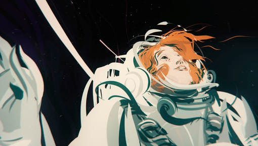 "This image released by the Oculus Story Studio shows a scene from the virtual reality film, ""Dear Angelica."" The film is the first animated film experience created entirely in VR."