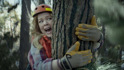 This photo provided by Kia Motors America shows a scene from the company's spot for Super Bowl 51, between the New England Patriots and Atlanta Falcons, Sunday, Feb. 5, 2017. Melissa McCarthy humorously takes on political causes like saving whales, ice caps and trees, each time to disastrous effect, in Kia's 60-second third-quarter ad to promote the fuel efficiency of its 2017 Niro crossover.