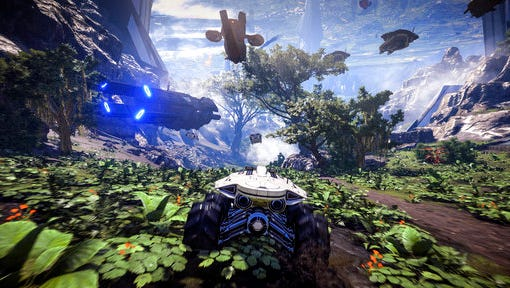 """This video game image released by Electronic arts shows a scene from, """"Mass Effect: Andromeda."""""""