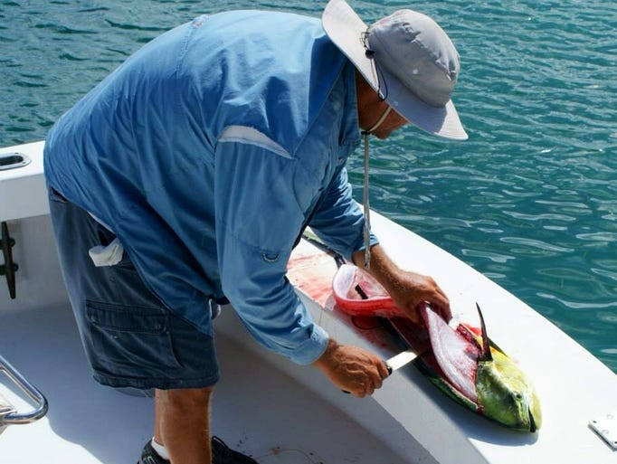Photo tour a day of deep sea fishing in the bahamas for Best fishing time today