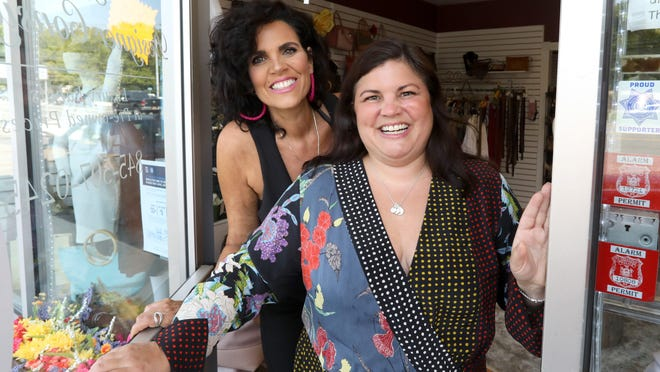 Christine Hogan, left, and her sister Andrea Longueira are owners of The Designer Consigner NY in Bardonia.