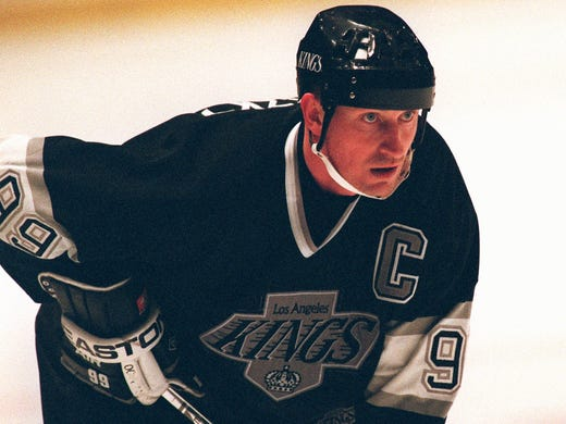Wayne Gretzky (Los Angeles Kings) - After playing 10