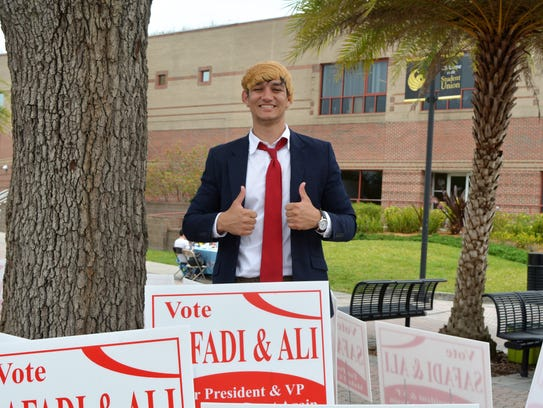 UCF SGA Presidential Candidate Anthony Safadi stands