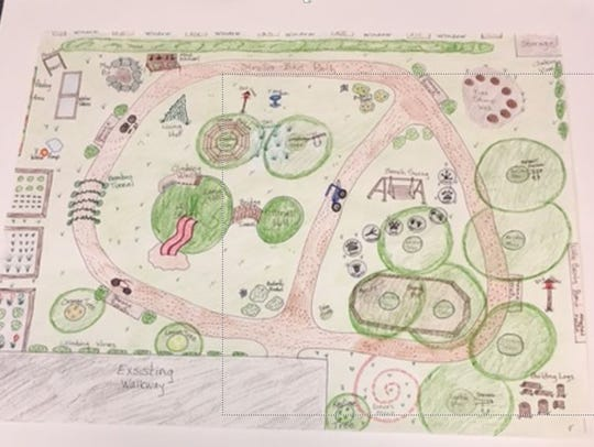 A drawing of what the natural playground at Little