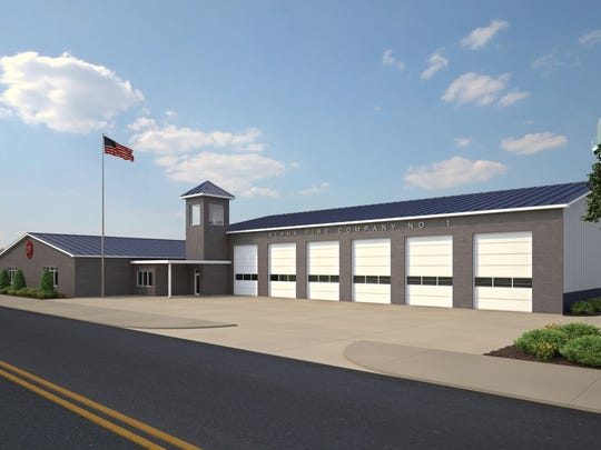 The new Alpha Fire Company building in Littlestown, seen here in a rendering, will take approximately 9-10 months to complete once construction starts.