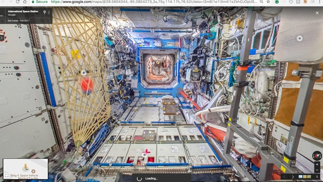 It took four months for a French astronaut on the International Space Station the images needed to stitch together a complete 360 degree view.