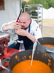 """Acadiana native Isaac Toups is pictured during filming for the first episode of season 13 of Bravo TV's """"Top Chef."""""""