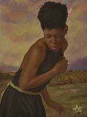 A painting by UCF alumnus Andrew Grant. This painting