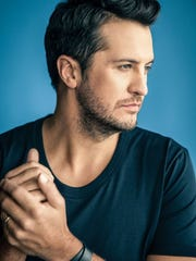 Luke Bryan plays at the Ford Center Thursday. photo by Jim Wright