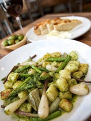 Gnocchi Primavera is an entree served on occasion at Emilia Restaurant