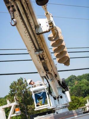 A Lenoir City Utilities Board technician at work. (LENOIR CITY UTILITIES BOARD/SPECIAL TO THE NEWS SENTINEL)