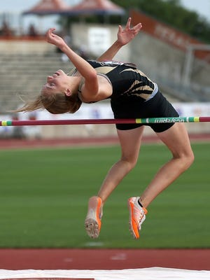 Brady High School's Madison Boyd competes in the Class 3A girls high jump at the UIL Track & Field State Championships in 2016. She finished second in the event at the 2018 District 6-3A meet in Dublin.
