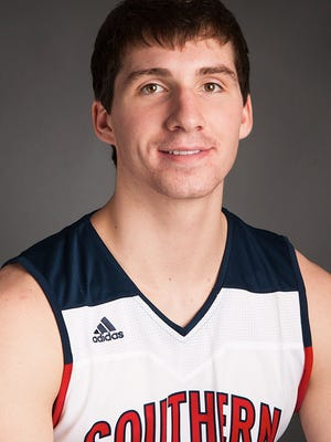 USI basketball player Jacob Norman
