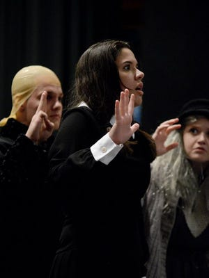 """Cameron Wisener was Wednesday in """"The Addams Family,"""" a 2016 musical performed at Van Ellis Theatre at Hardin-Simmons University."""