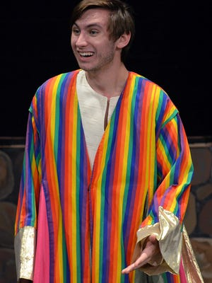 """Tony Olshanky plays the title role in Walled Lake Western's production of """"Joseph and the Amazing Technicolor Dreamcoat."""""""