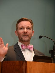 """Paul S. Ryan of the Campaign Legal Center talks about unfairness in U.S. elections. Ryan gave the inaugural talk in the """"Progressive Voices Speak Out"""" lecture series last year."""
