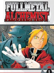 "The cover page for the first issue of ""Fullmetal Alchemist"""