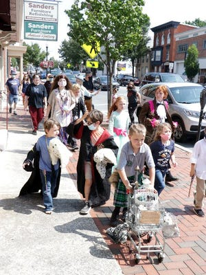 Mainstreet Waynesboro's fourth annual Wizarding Weekend included a costume parade Saturday afternoon. TOYA McCLEARY/THE RECORD HERALD