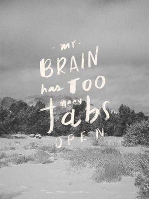 Symptom of a multi-tasker!
