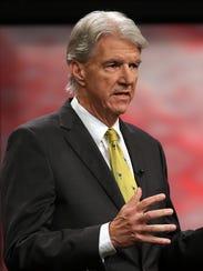 Democrat Phil Noble participates in a debate for the