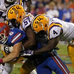 LSU Tigers linebacker Kwon Alexander (4) was drafted by the Tampa Bay Buccaneers on Saturday.
