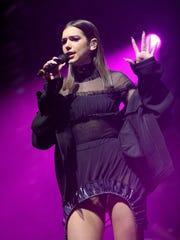 Dua Lipa performs during Free Radio Live 2016.