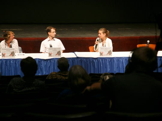 Film makers talk about their craft during a seminar