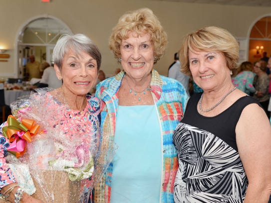 Sue Dasso, left, Katherine Enns and Jackie Schinehette